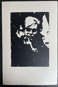 SIGNED ANDY WARHOL- SIEBDRUCK auf LENOX MUSEUM BOARD - POP ART - Rar selportrait
