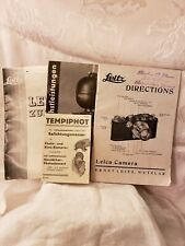 Set of 4 Leitz & Tempiphot Directions & Advertising Booklets Germany