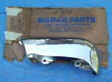 NOS MoPar 1958 58 Chrysler Saratoga Windsor 300 right front grille bar EXTENSION