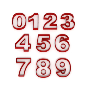 Numbers Cookie Fondant Cutters Birthday cake Icing 0 1 2 3 4 5 6 7 8 9 Number UK