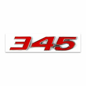 Red 345 Badge Emblem Chrome Trim for MOPAR HEMI Passenger & Driver Side Jeep RT