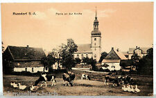 Postkarte - RUSSDORF S.-A. - Partie an der Kirche