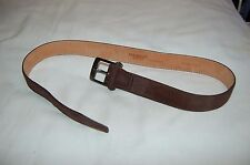 Berge Uomo Vera Pelle Brown Suede Belt Size 34/85/1373 Made in Italy
