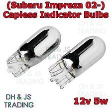 2x Subaru Impreza 02- Chrome / Silver Indicator Bulbs Flash 501 Side Tail Pair