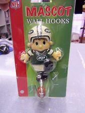 New York Jets MASCOT WALL COAT HOOK NOVELTY FOOTBALL NEW SEALED FREE SHIP
