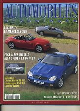 AUTOMOBILES CLASSIQUES n°75 07/1996MERCEDES SLK ALFA SPIDER BMW Z3 ASTON DP 215