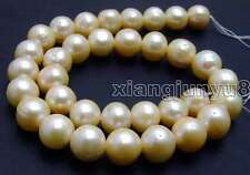 """SALE Big 12-13mm Pink Natural Freshwater round pearl Loose Beads 14""""-los179"""