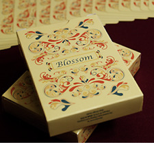 Blossom deck (Fall) Platinum Metallic Ink by Aloy Studios USP fro Murphy's Magic