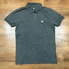 Pretty Green Polo Shirt Grey Dotted XS