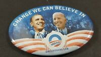 2008 Obama Biden Presidential Campaign Pin Change We Believe In Democrat 3""