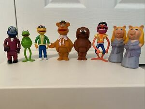 Lot of 8 (Full Set)1970's Henson Muppet Show Players Stick Puppets - 1 Owner