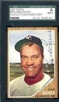 Hank Bauer SGC Coa Autograph 1962 Topps Hand Signed