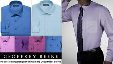 Mens Shirt Geoffrey Beene Tailored Fitted Cotton Blend Easy Iron Long Sleeve