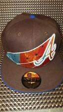 New Era 59FIFTY ATLANTA BRAVES MLB Fitted Baseball Hat Cap BROWN STARS 7 5/8