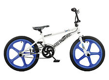 Rooster Big Daddy 20 BMX White/Blue with Skyway Mag Wheels