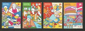 SINGAPORE 2021 UNESCO INTANGIBLE CULTURE HERITAGE HAWKER CULTURE 4 STAMPS MINT