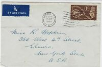 british airmail 1949 stamps cover ref 19433