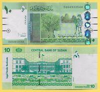 Sudan 10 Pounds p-73 2011 UNC Banknotes