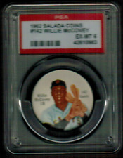 1962 Salada Coins #142 Willie McCovey Giants EX-MT PSA 6