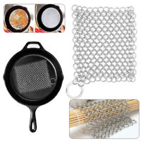 Stainless Cast Iron Cleaner Chainmail Scrubber Kitchen Tool For Skillets Pans