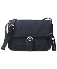 New Michael Kors COOPER Small Women Crossbody Blue Denim/ Pebble Leather $158