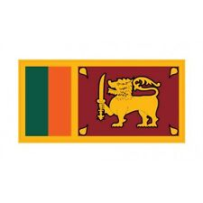 Autocollant Drapeau Sri Lanka sticker flag 12 cm