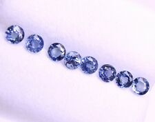 1.70 Cts Tol, Natural Mined Loose Gem Lot 8 Pcs, Round Blue Sapphires   3.4 MM