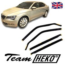 DSK28346 SKODA SUPERB mk3 HATCHBACK 2015-up WIND DEFLECTORS 4pc HEKO TINTED