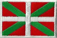 Ecusson patche Pays Basque insigne patch thermocollant Euskadi badge 45 x 30 mm