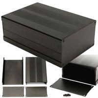 150*105*55mm Aluminum PCB Instrument Box Enclosure Electronic Project Case Black