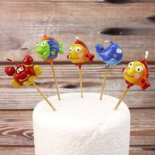 FISH  Party Candles CAKE DECORATION SET Birthday Cake Topper Figure