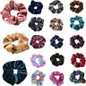 Velvet Scrunchies Hair Ties Ponytail Bun Holder Stretch Elastic Rubber Band ###
