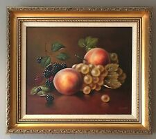 Original Oil On Board Painting Of Fruit By Royal Worcester Artist John F Smith