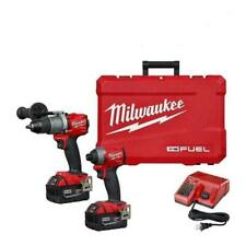 Milwaukee 2997-22 M18 Hammer Drill & Impact Driver Combo Kit 2X 5Ah Batteries !