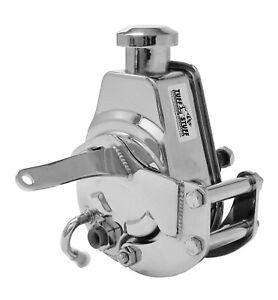 Tuff Stuff 6504A SBC Short Power Steering Pump Bracket, Chrome