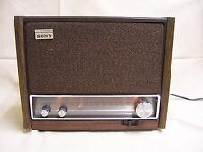 Vintage Sony ICF-9640W AM/FM Transistor table Radio Fidelity Sound, antenna jack