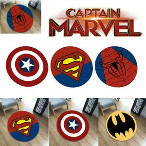Superhero Carpet Non Slip Mat Floor Rug Bathroom Bedroom Marvel Pad Home Decor