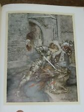 1917 ROMANCE OF KING ARTHUR BY MALLORY 16 COLOUR PLATES BY ARTHUR RACKHAM *