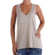 Camicia da donna in misto cotone senza maniche