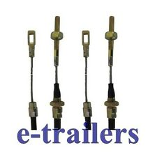 PAIR 900mm FIXED EYE LONG LIFE TRAILER BRAKE CABLES FOR ALKO SYSTEMS