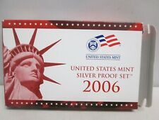 2006 US MINT SILVER PROOF SET WITH BOX AND COA