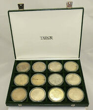 Coffret avec 12 Médailles collections Club Francais des monnaies