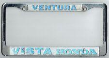 SUPER RARE Ventura California Vista Honda JDM Vintage Dealer License Plate Frame