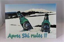Vintage retro Apres Ski Rules A4 metal wall sign plaque Heinekin winter beer