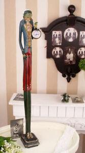 Frog Figure Clock Bearer Table Rococo 80cm Prince Decorative