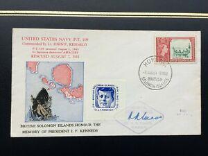 BRITISH SOLOMON ISLANDS Honour the Memory of JFK 1964 Signed Cover, Honiara CDS