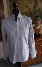 Sportliches Herrenhemd TOMMY HILFIGER grau weiss in Gr. S