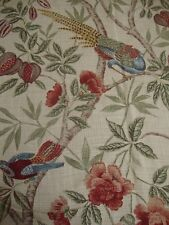 65cm Sanderson Abeville Bird Linen Blend Curtain Upholstery Fabric Remnant