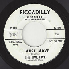♫LIVE FIVE I Must Move/Same Piccadilly 236 ROCK 1967 45RPM♫