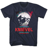 OFFICIAL Evel Knievel Moon Color Me Lucky Men's T-Shirt Stunt Rider Biker